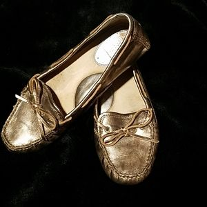 Frye copper metallic slip-on loafers size 8